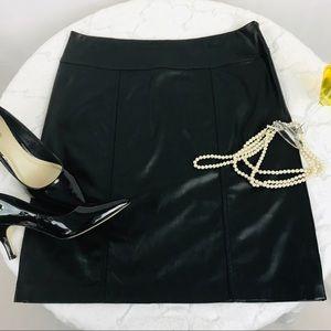Dana Buchman 💫 Faux Leather Skirt ~ Fire! 🔥